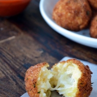Arancini (Rice Balls) with Marinara Sauce Recipe | Just a Taste