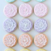 Spring Brush Embroidery Cookies » Glorious Treats