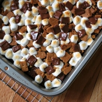 S'mores Brownies #SundaySupper - Alida's Kitchen