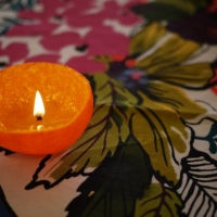 DIY Satsuma Candle