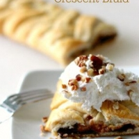 It's a breakfast dessert! Chocolate Banana Breakfast Crescent Braid.