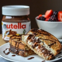 Dessert Recipe:  Hot Baked Nutella  Cream Cheese Sandwich  — Recipes from The Kitchn | The Kitchn