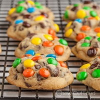 Chewy M&M Chocolate Chip Cookies - Chew Out Loud