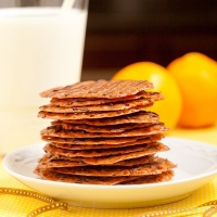 Orange Chocolate Lace Cookies - Chew Out Loud