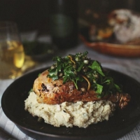 Herb Roasted Chicken with Truffled Cauliflower Mash — Roost