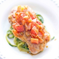 One Pan Tuscan Pork Chops