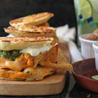 Ultimate nacho grilled cheese recipe