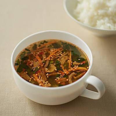 無印良品に食べるスープの新作登場!ユッケジャンスープやコムタンなど3種類の画像