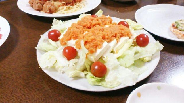 5、にんじん&りんごドレッシングの豆腐サラダ