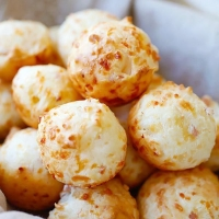 Bacon Parmesan Gougeres (Cheese Puffs) | Easy Delicious Recipes: Rasa Malaysia