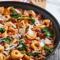 20-Minute Skillet Tuscan Tortellini - Chew Out Loud