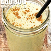 Delicious Eggnog Smoothie with No Fake Ingredients