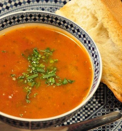2、モロッコのハリラ風!お豆のスープ