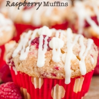 White Chocolate Raspberry Muffins - Chew Out Loud