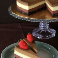 Triple Layer Cheesecake | Easy Delicious Recipes