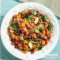 Farro Salad with Butternut and Avocado - Chew Out Loud