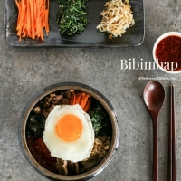 Bibimbap - Korean Mixed Rice with Meat and Assorted Vegetables - My Korean Kitchen