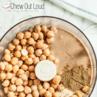 Roasted Garlic Hummus - Chew Out Loud