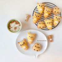 Rilakkuma Honey Cakes - Little Miss Bento
