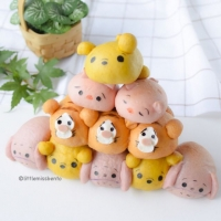 [Recipe] Pooh Tsum Tsum Bread - Little Miss Bento