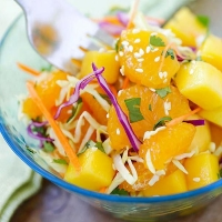 Asian Fruit Slaw | Easy Delicious Recipes