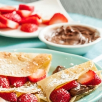 Sweet Crepes with Strawberries and Nutella - Chew Out Loud