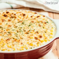 Creamed Corn Au Gratin - Chew Out Loud