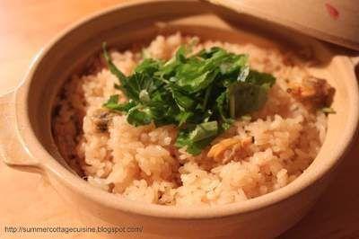 土鍋で作る炊き込みご飯