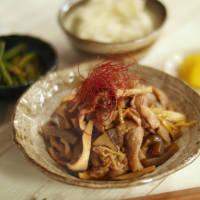 作り置きで味しみしみ!豚肉とエリンギのしょうが煮