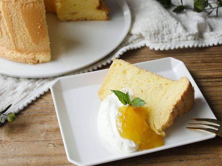 ケーキ 焼き 縮み シフォン